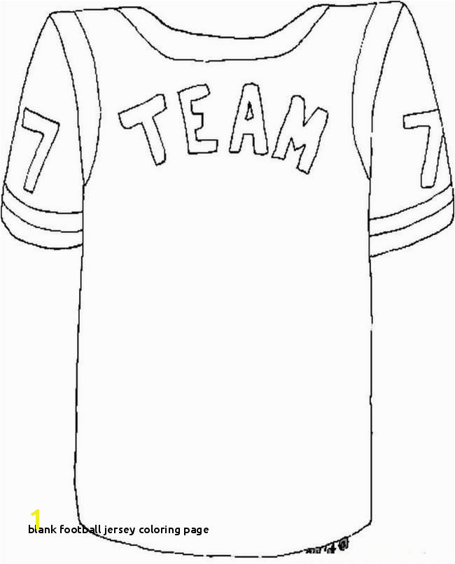 25 Blank Football Jersey Coloring Page