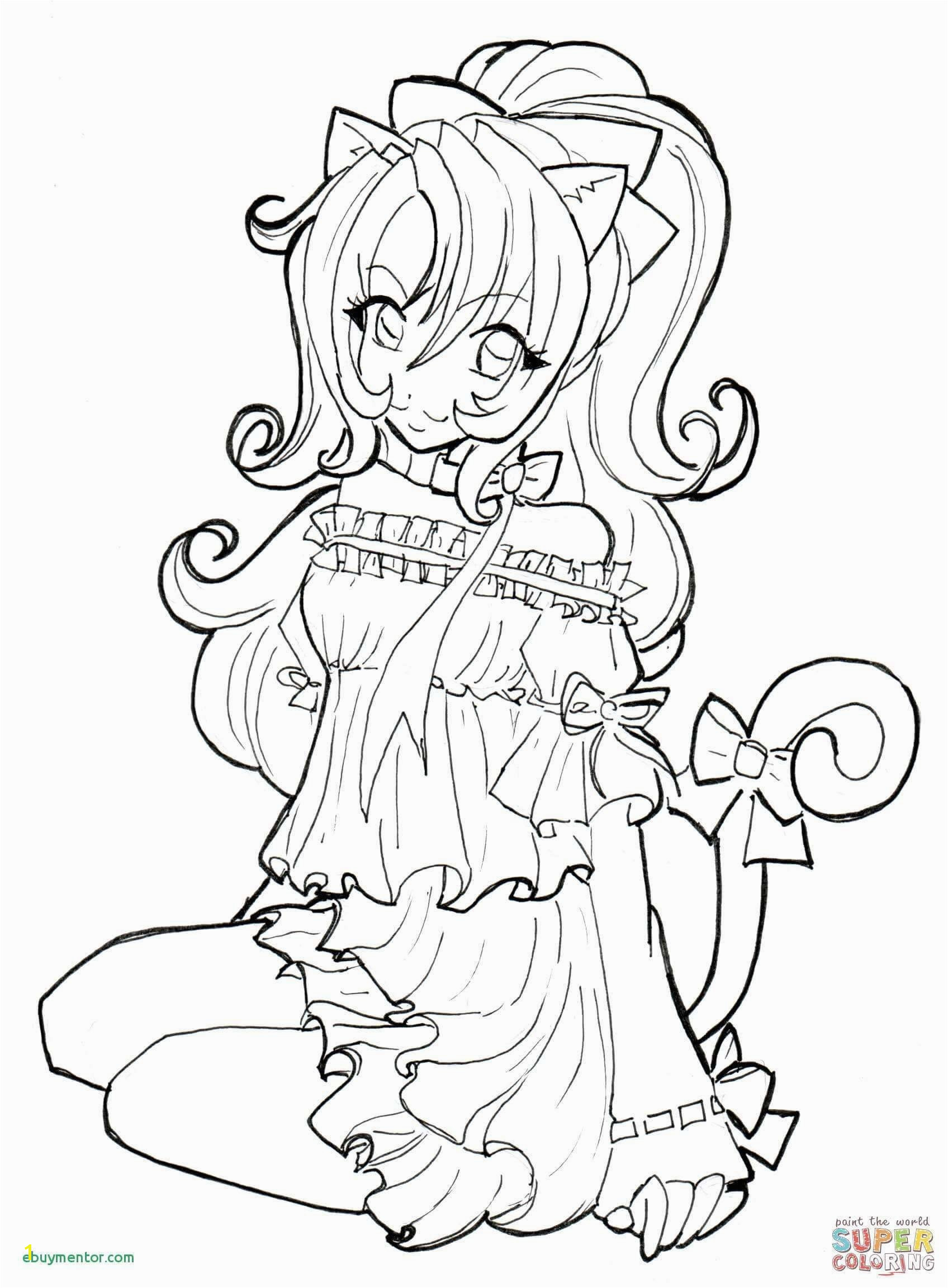 Anime Chibi Coloring Pages Princesses Printable