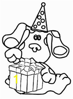 Blues Clues Birthday Coloring For Kids