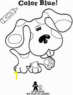 Blue s Clues Coloring Sheets Educational Fun Kids Coloring Pages and Preschool Skills Worksheets