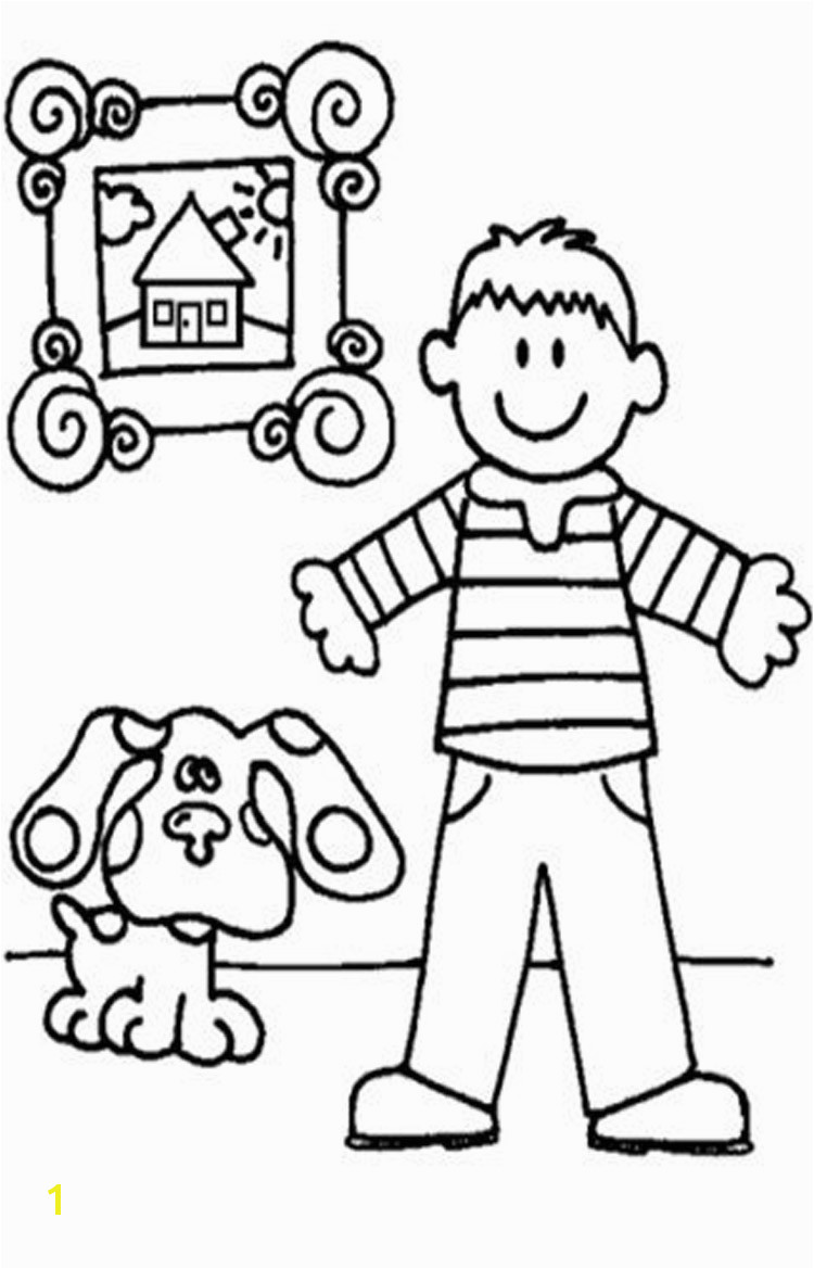 Blues Clues Coloring Page