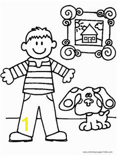 Blue s Clues color page cartoon characters coloring pages color plate coloring sheet