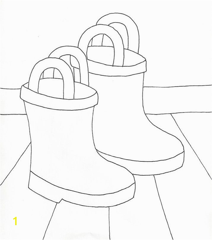 Boot Coloring Page Rain Boots Coloring Page From Weefolkart
