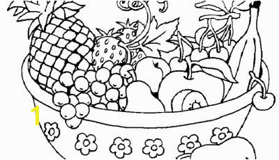 New Fruit Bowl Printable Coloring Pages Gallery