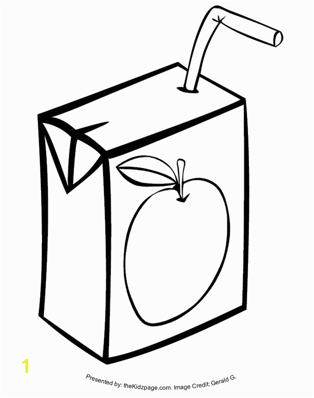 Juice Box Free Coloring Pages for Kids Printable Colouring Sheets