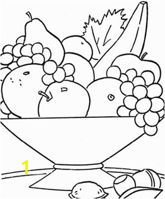 Cut out pieces of fruit & have the kids paste them into the fruit bowl naming them as the go Printable