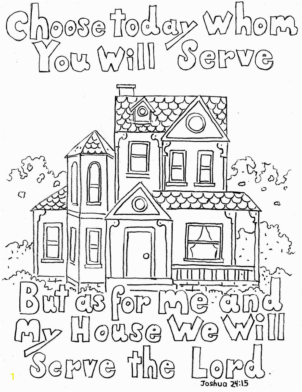 The Boxcar Children Coloring Pages Announcing Obey Coloring Page the Lord Joshua 24 15 Print and