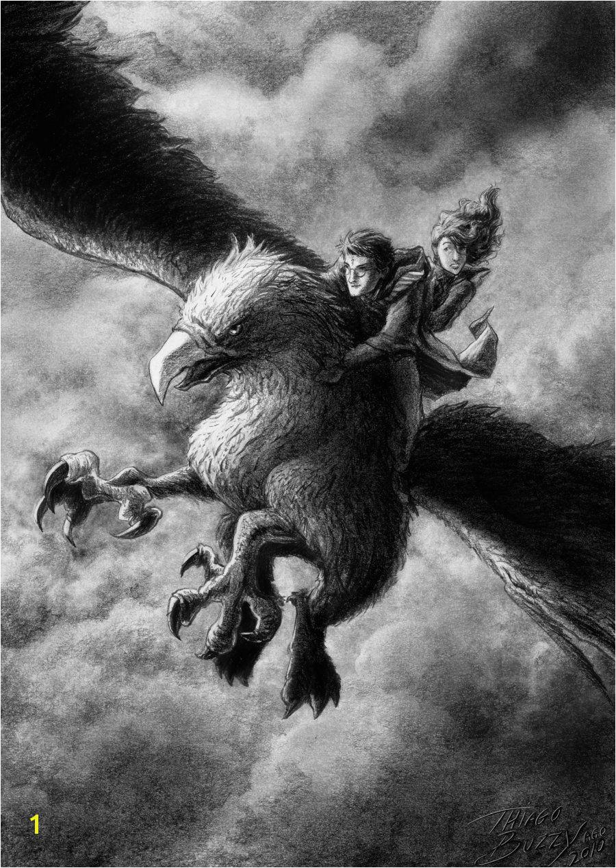 """The Flight of Buckbeak by ThiagoBuzzyviantart on DeviantArt"""