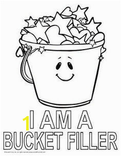 """I AM A BUCKET FILLER"" Coloring Page bucketfilling More"