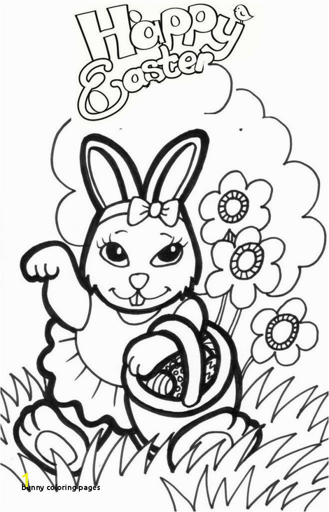 Bunny Coloring Pages Pretty Girl Easter Bunny Coloring Sheets