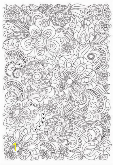 Coloring Adult Coloring Pages Easy Beautiful Printable Page Doodle Flowers 2 For Adults And Children