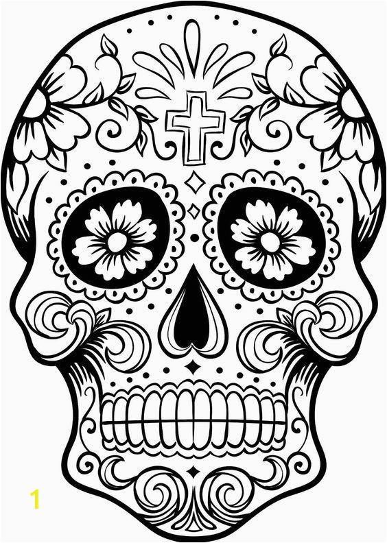 C³digo C 028 Printable Coloring Pages Sugar Skulls Sugar Skull Pumpkin Stencil