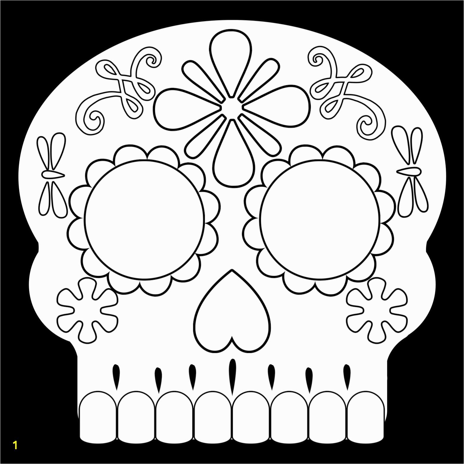 Sugar Skull Mask 2 – Coloring Page