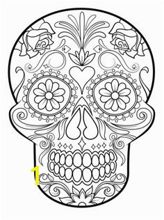 Sugar Skull coloring page from Sugar Skulls category Select from printable crafts of cartoons nature animals Bible and many more