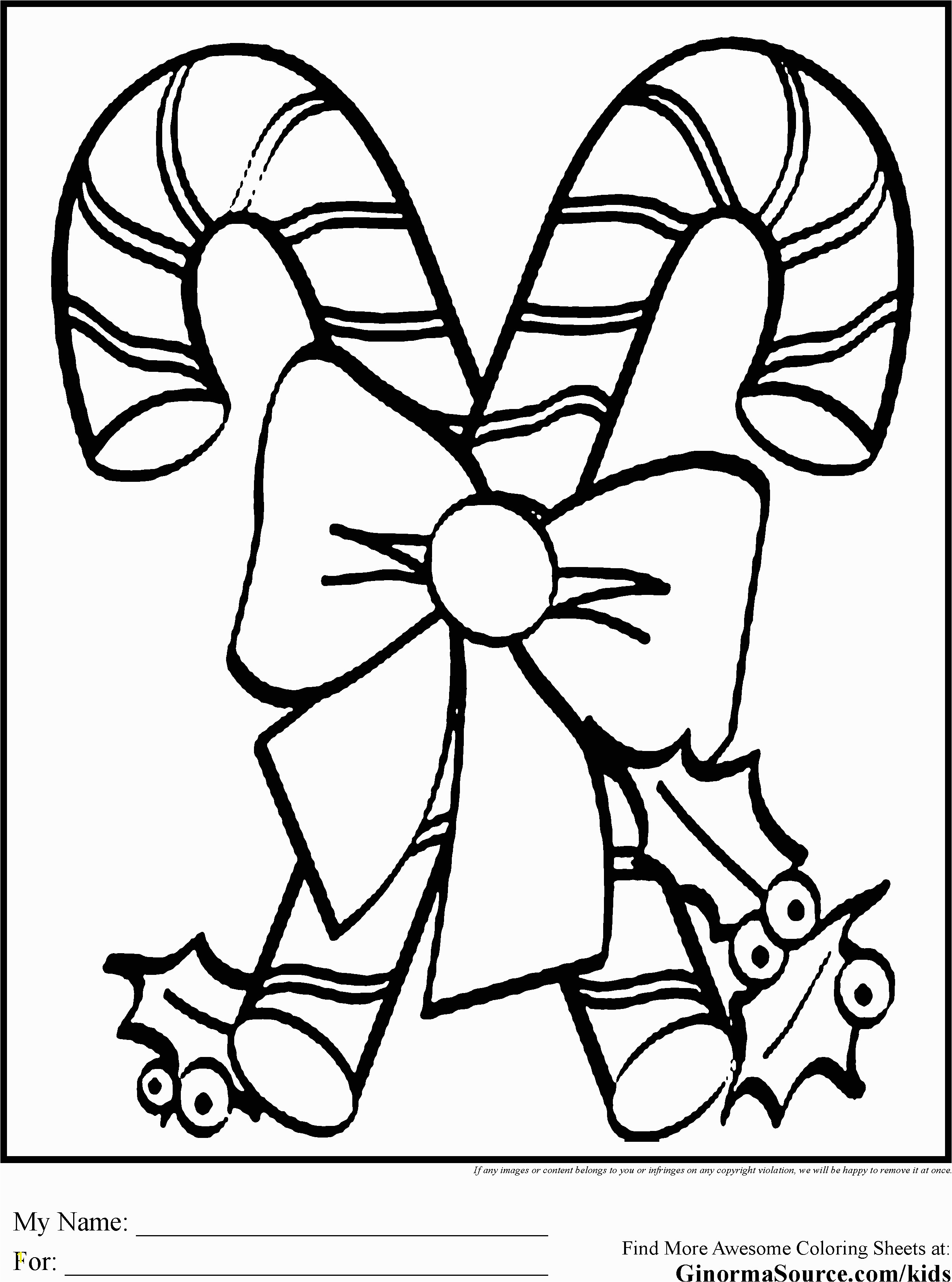Candy Cane Coloring Pages to Print Christmas Coloring Pages for Kids Candy Canes
