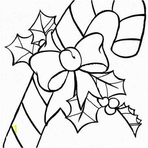 DLTK s Christmas Coloring Pages A candy cane