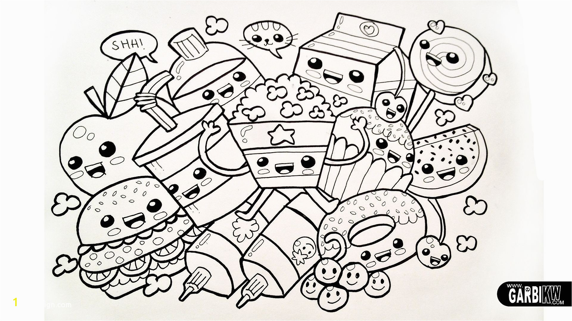 Cute Food Coloring Pages Coloring Pages Food Printable