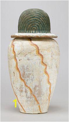 Canopic jar of Teti Period New Kingdom Dynasty Dynasty 18 Date ca