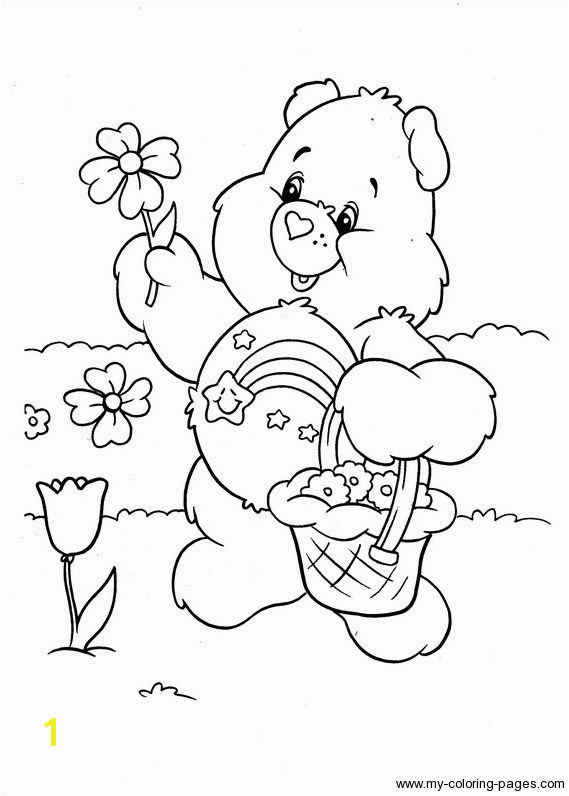 Care Bears Coloring 079 Printable Coloring Pages Bear Coloring Pages Disney Coloring Pages
