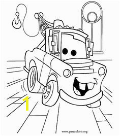Cars Movie Tow Mater Cars Movie coloring page