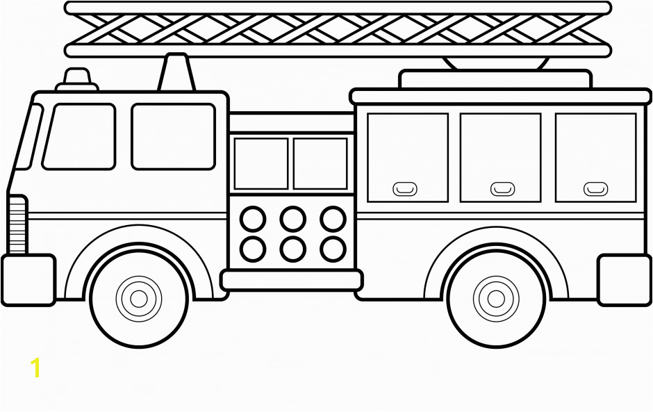 Fire Station Coloring Pages For Kids Free Printable Fire Truck