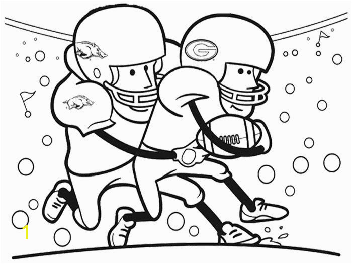 Cartoon Football Player Coloring Pages Cartoon Player Football Coloring Page Kids Coloring Pages