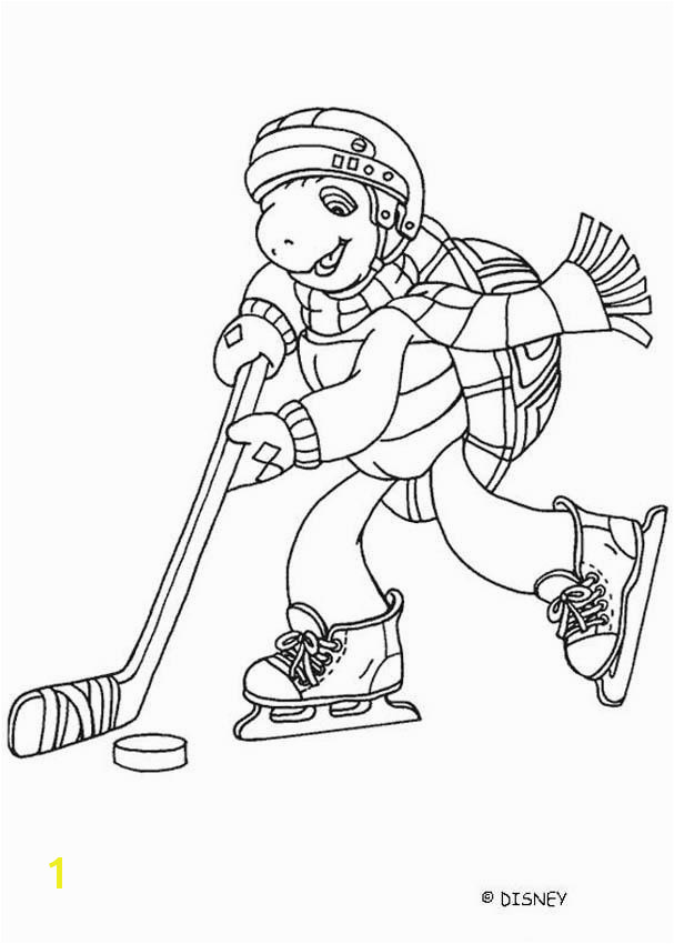 FRANKLIN playing ice hockey Franklin playing ice hockey coloring page