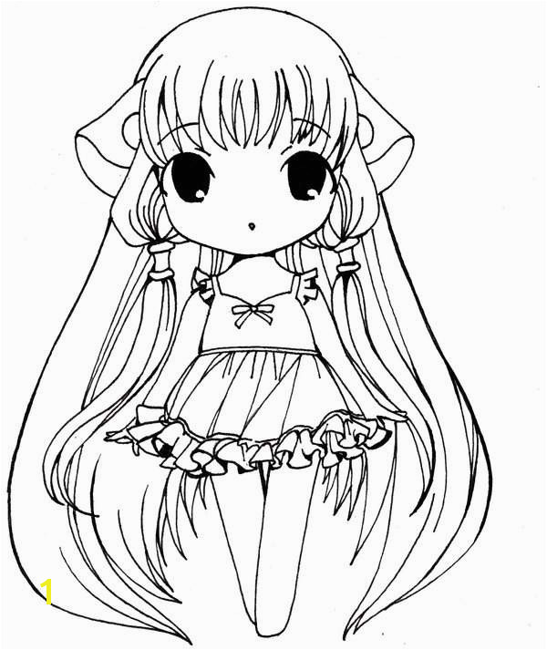 Anime Girl Coloring Page Chibi Printable Lovely Anime Chibi Boy Anime Cat Girl Coloring Pages