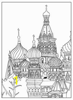 Free adult coloring page of the Saint Basil s Cathedral in Red Square in Moscow