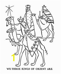 Religious Christmas Bible Coloring Pages Three Wise Men Coloring