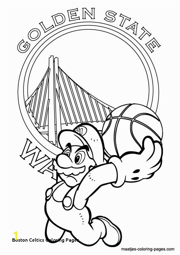 Celtics Basketball Coloring Pages Beautiful Free Coloring Pages