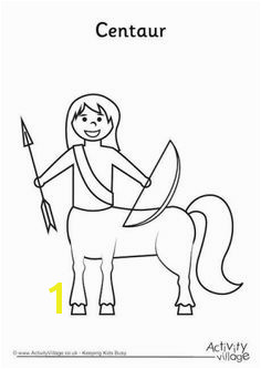 Centaur Colouring Page