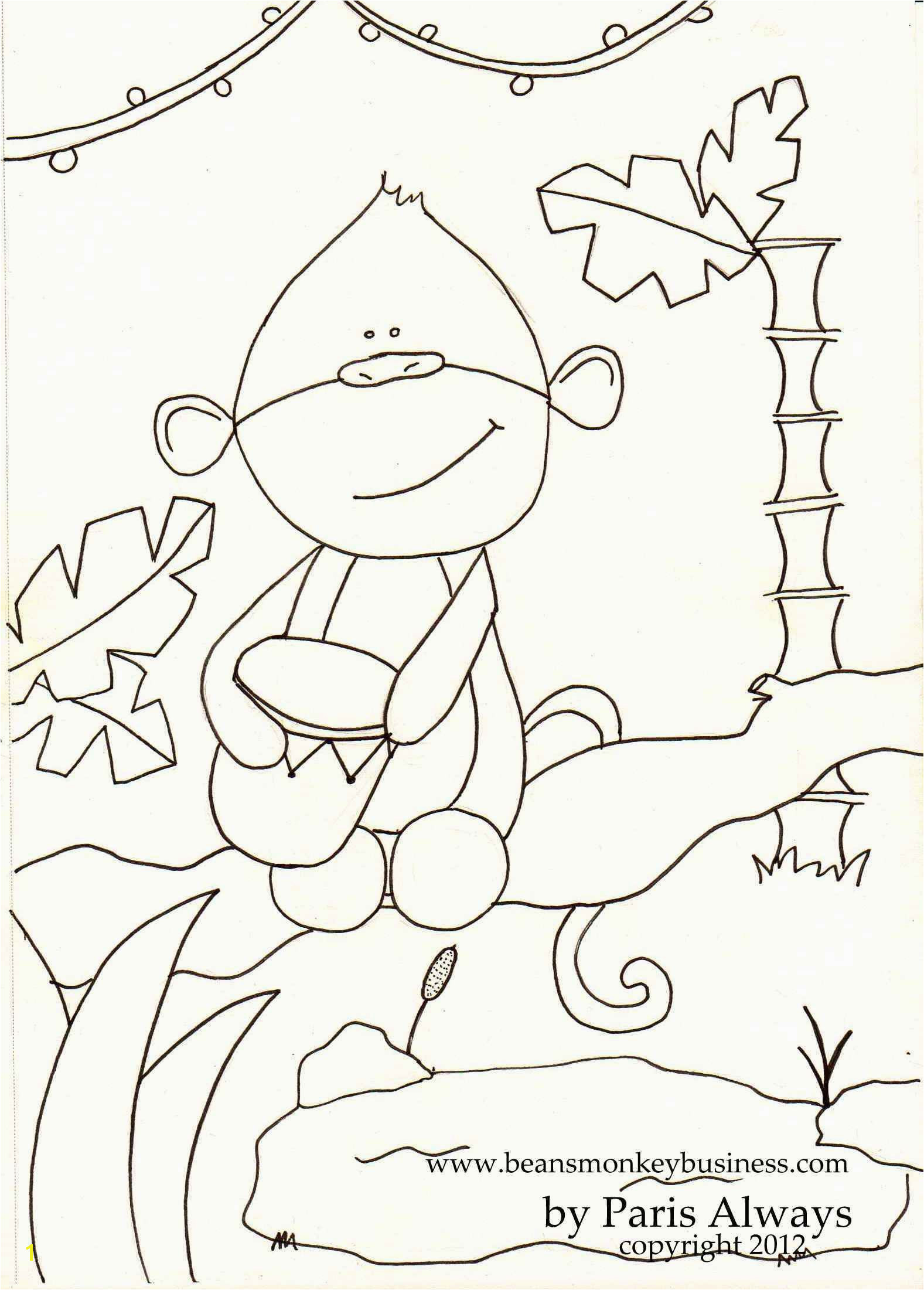 Paris did a Coloring Page for Bean and kids to color and use for our activities