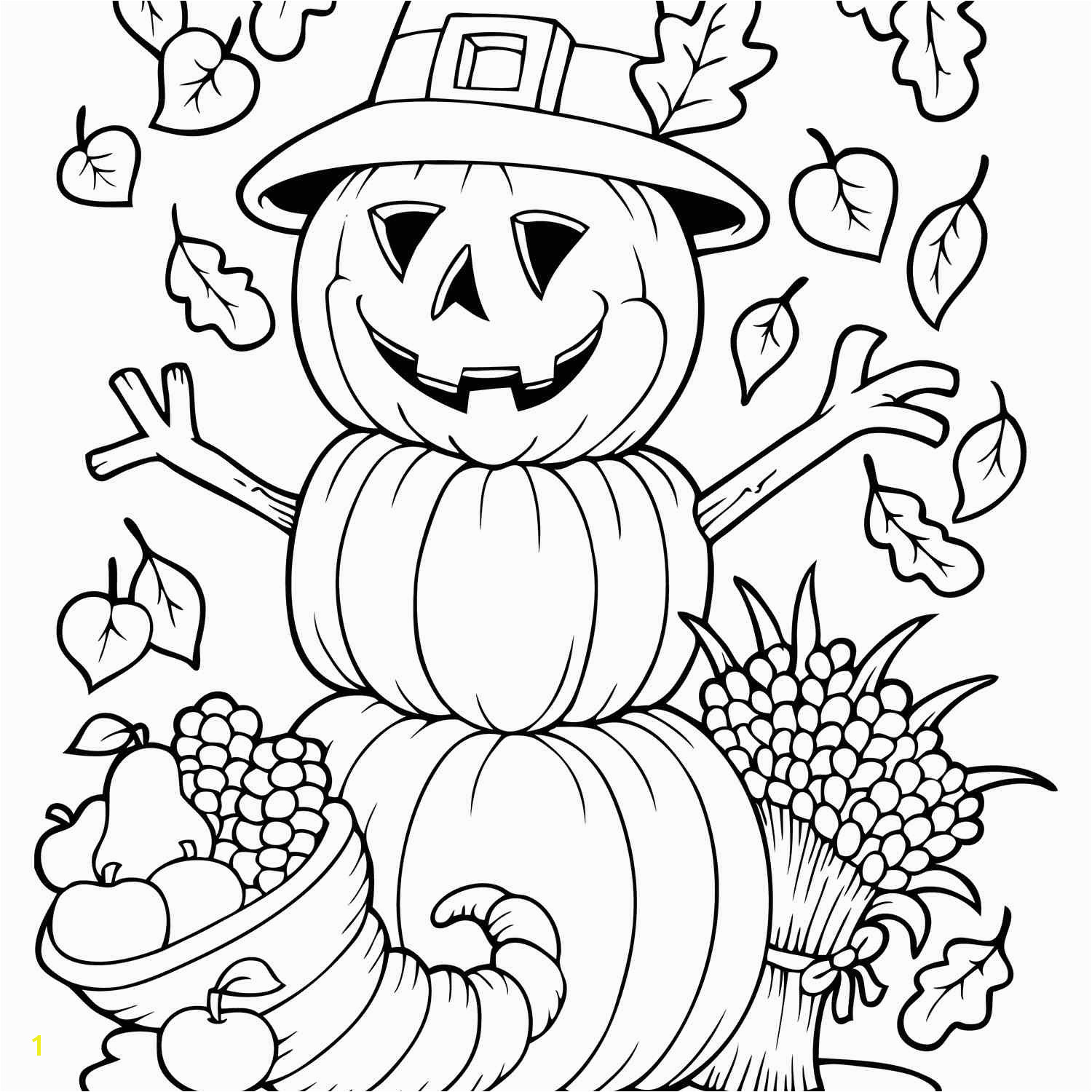 Fall Coloring Pages from Primary Games