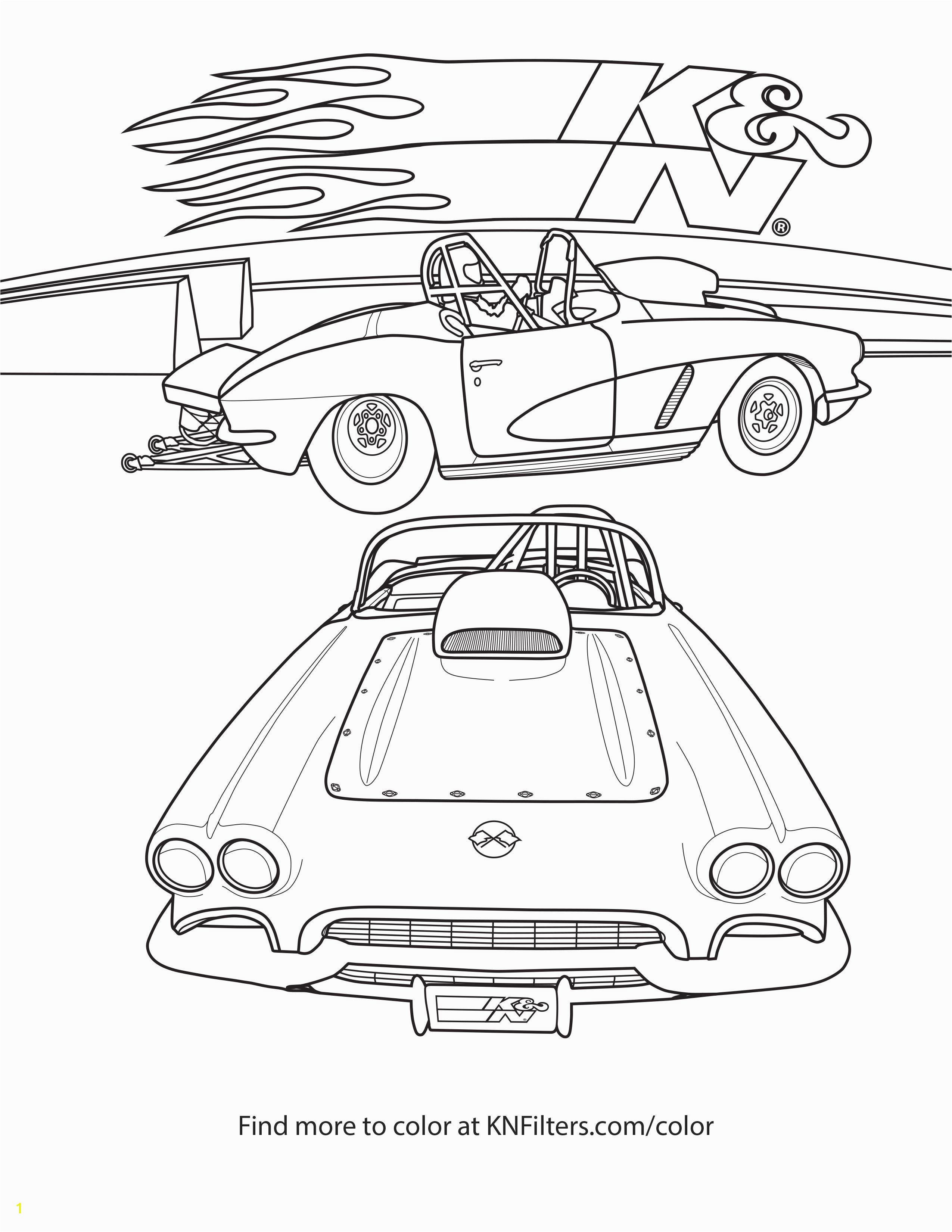 Chevrolet Corvette K&N Printable Coloring Page