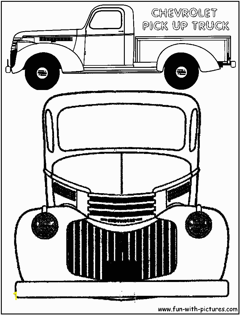 Chevy Corvette Coloring Pages Vintage Truck Color Book Pages