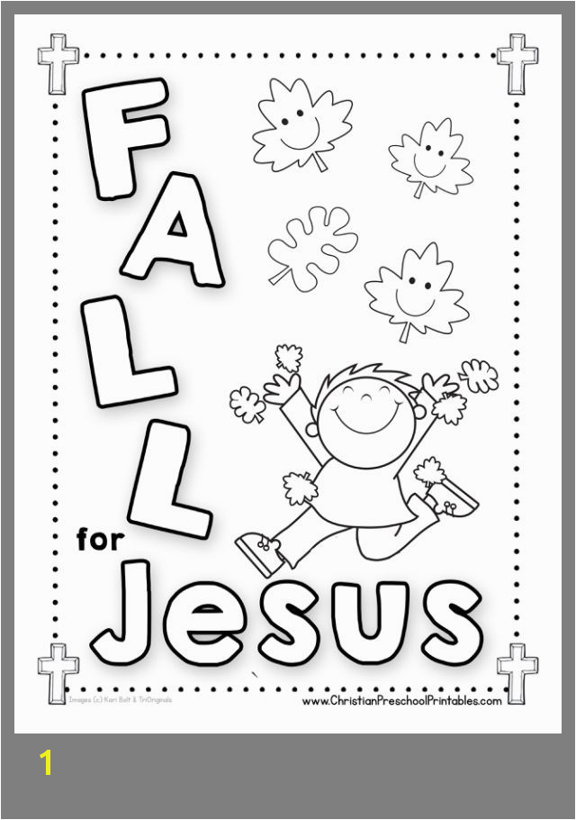 FALL COLORING PAGE FOR CHILDRENS CHURCH 2019