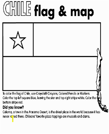 Chile Flag Coloring Page Chile Coloring Page