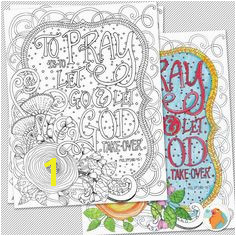 Bible Coloring Page Printable DIY To Pray is to Let go & let god