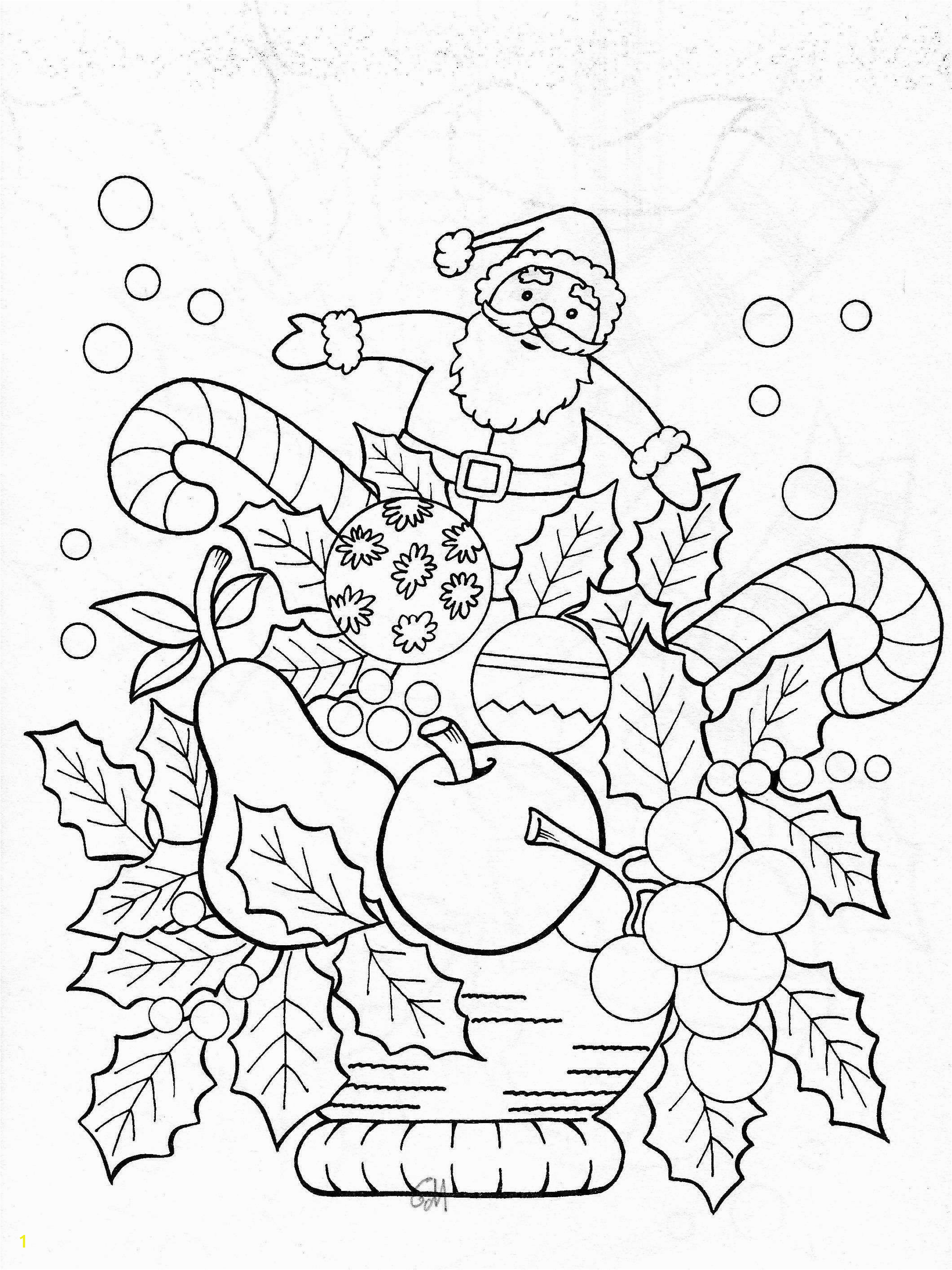 Christmas Coloring Pages for Adults to Print 34 Christmas Coloring Pages to Print F