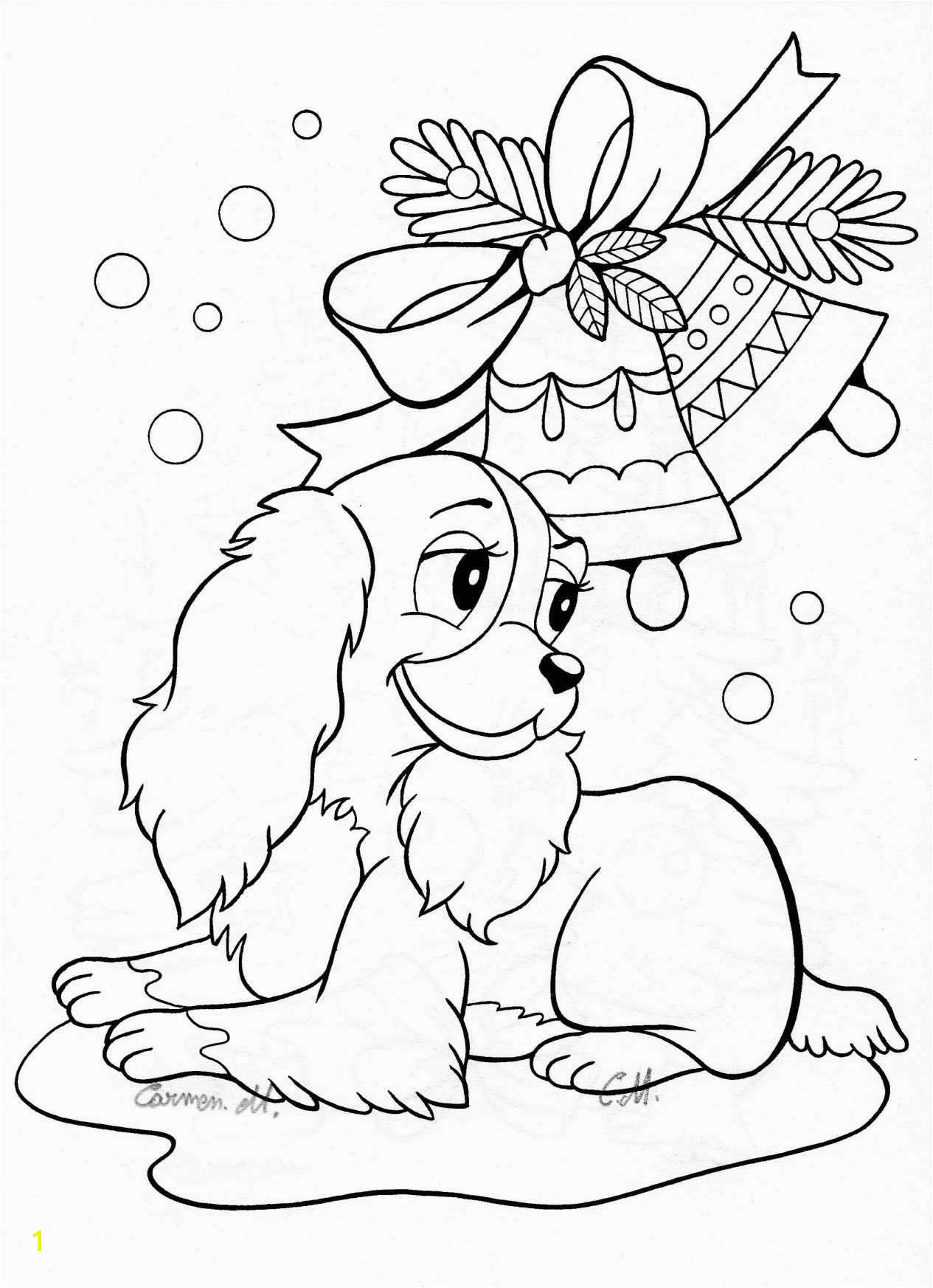 Merry Christmas Coloring Pages for toddlers Merry Christmas Coloring Pages for Kids Printable Od Dog Coloring