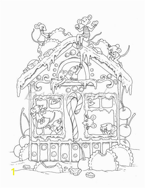Nice Little Town Christmas 2 Adult Coloring Book Stress