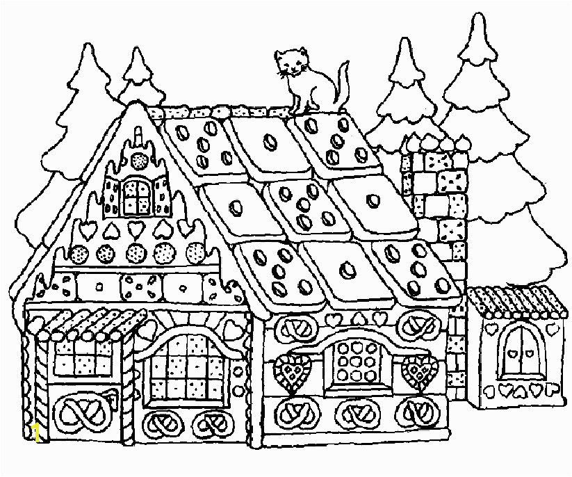 Christmas Gingerbread House Coloring Pages Christmas Coloring Pages for Adults Gingerbread House 12