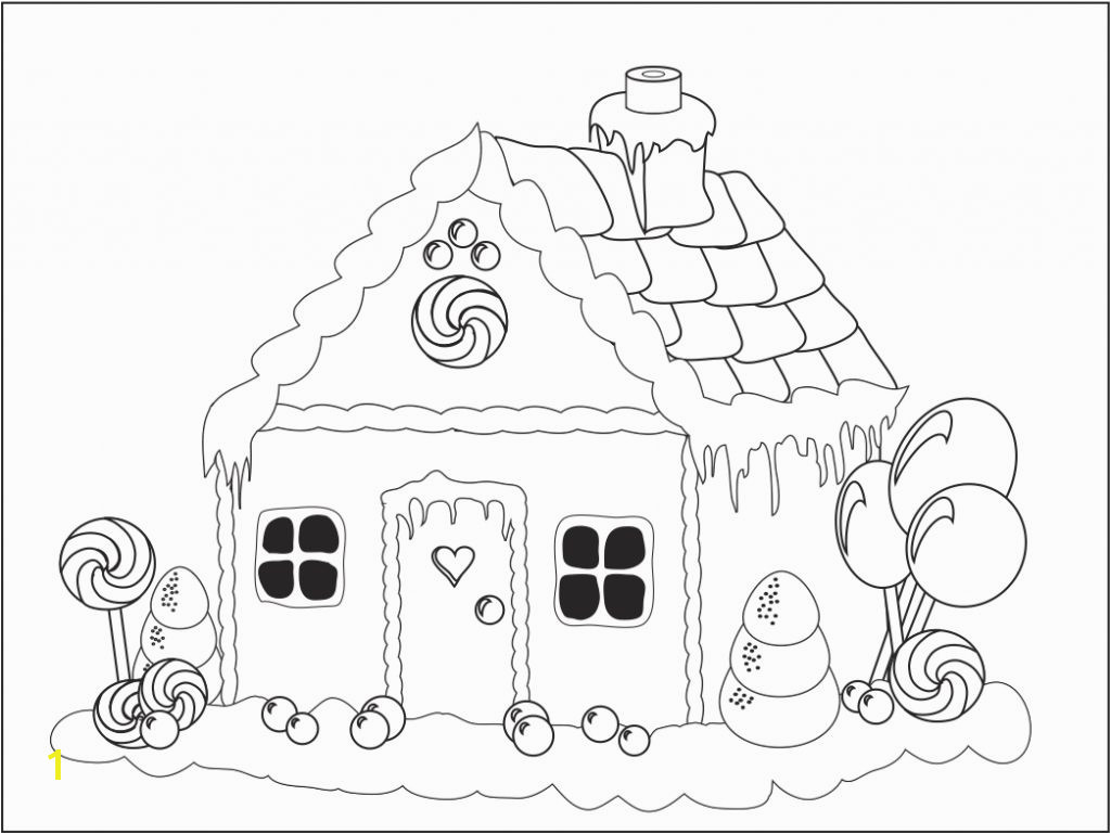 Christmas Gingerbread House Coloring Pages Christmas Gingerbread House Outline Projects to Try