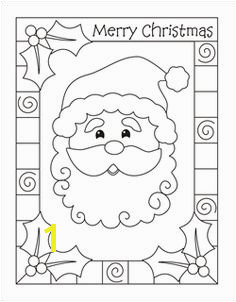 Christmas coloring cards for kids printable free coloring cards Santa Chri