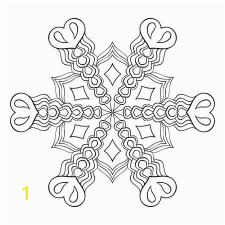 Vector Zentangle elegant snow flake mandala for adult coloring pages Vector ornamental winter illustration for decoration Christmas greeting cards