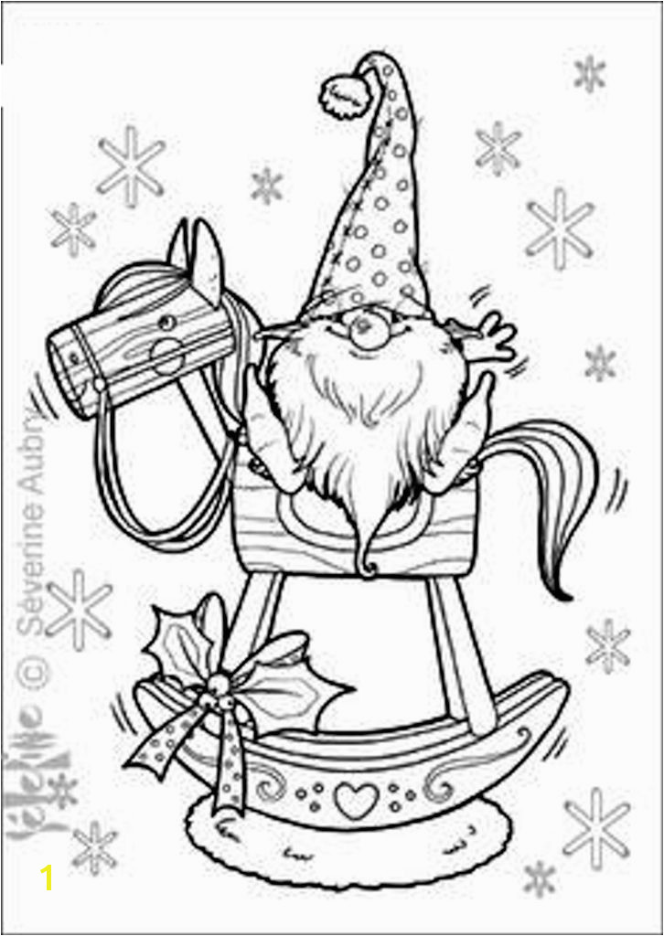 tomte on rocking horse Winter Christmas stitchery Pinterest