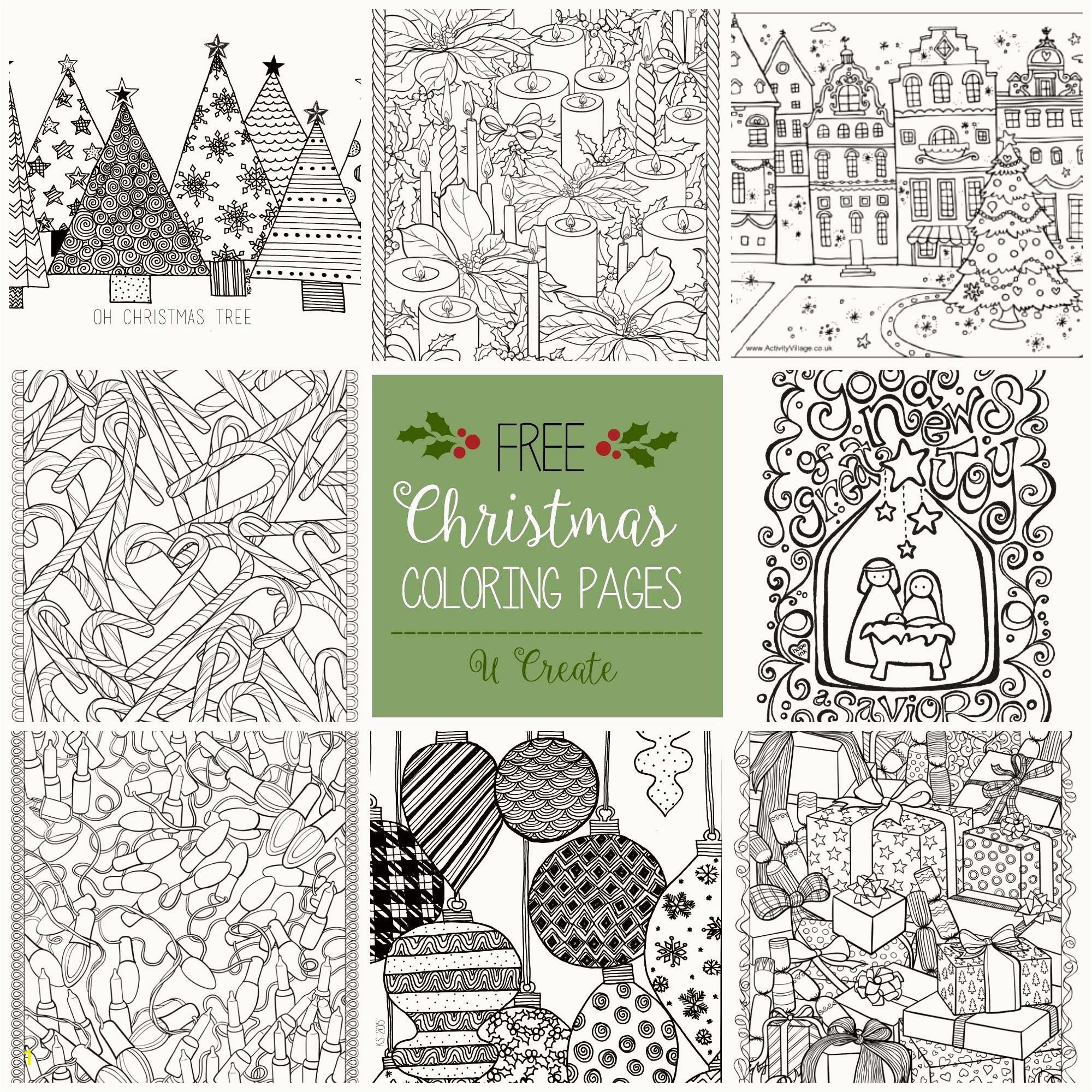 Christmas Tree Coloring Pages Free Christmas Coloring Unique Free Printable Christmas Coloring