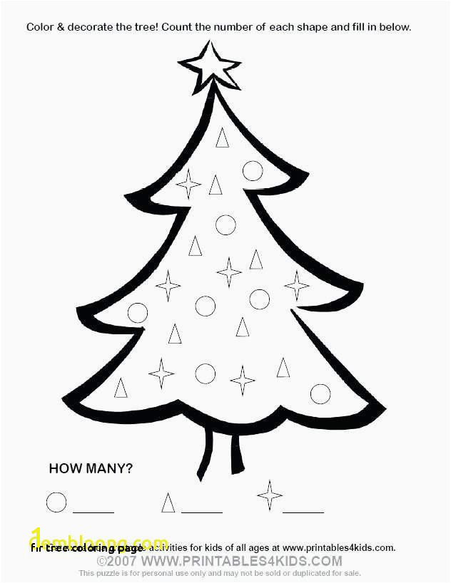 Fir Tree Coloring Page Xmas Tree Coloring Pages New Lovely Printable Christmas Tree
