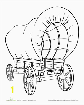 Worksheets Color the Covered Wagon